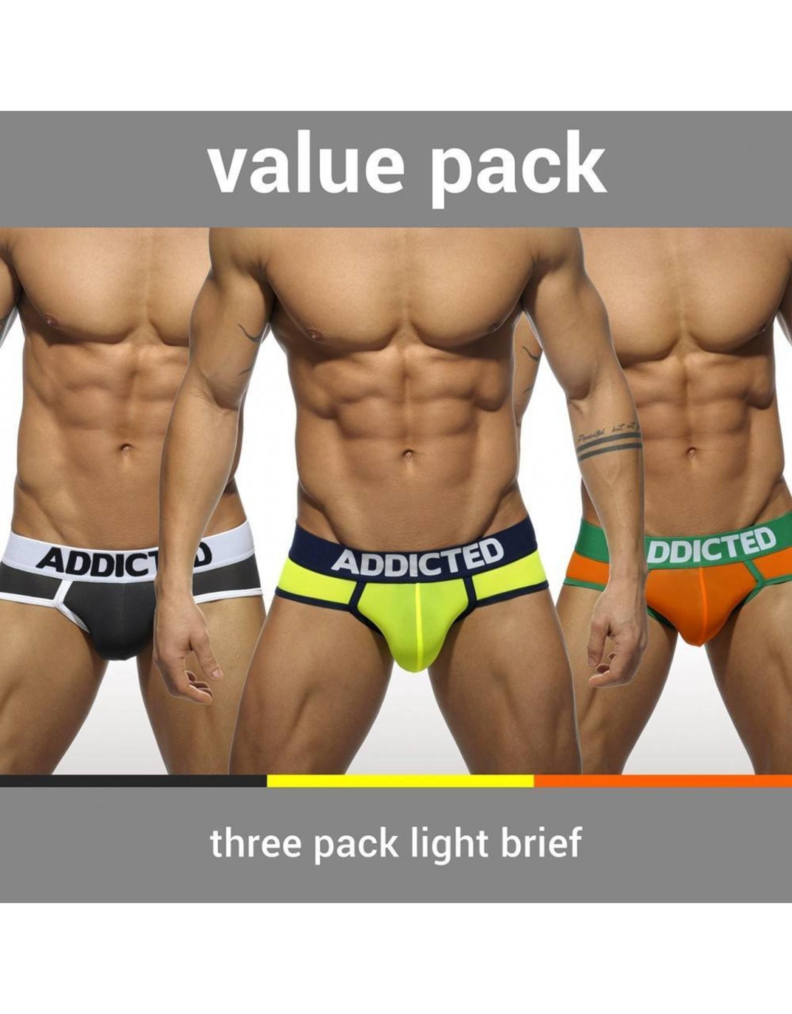Addicted ADDICTED Three Pack Light Brief