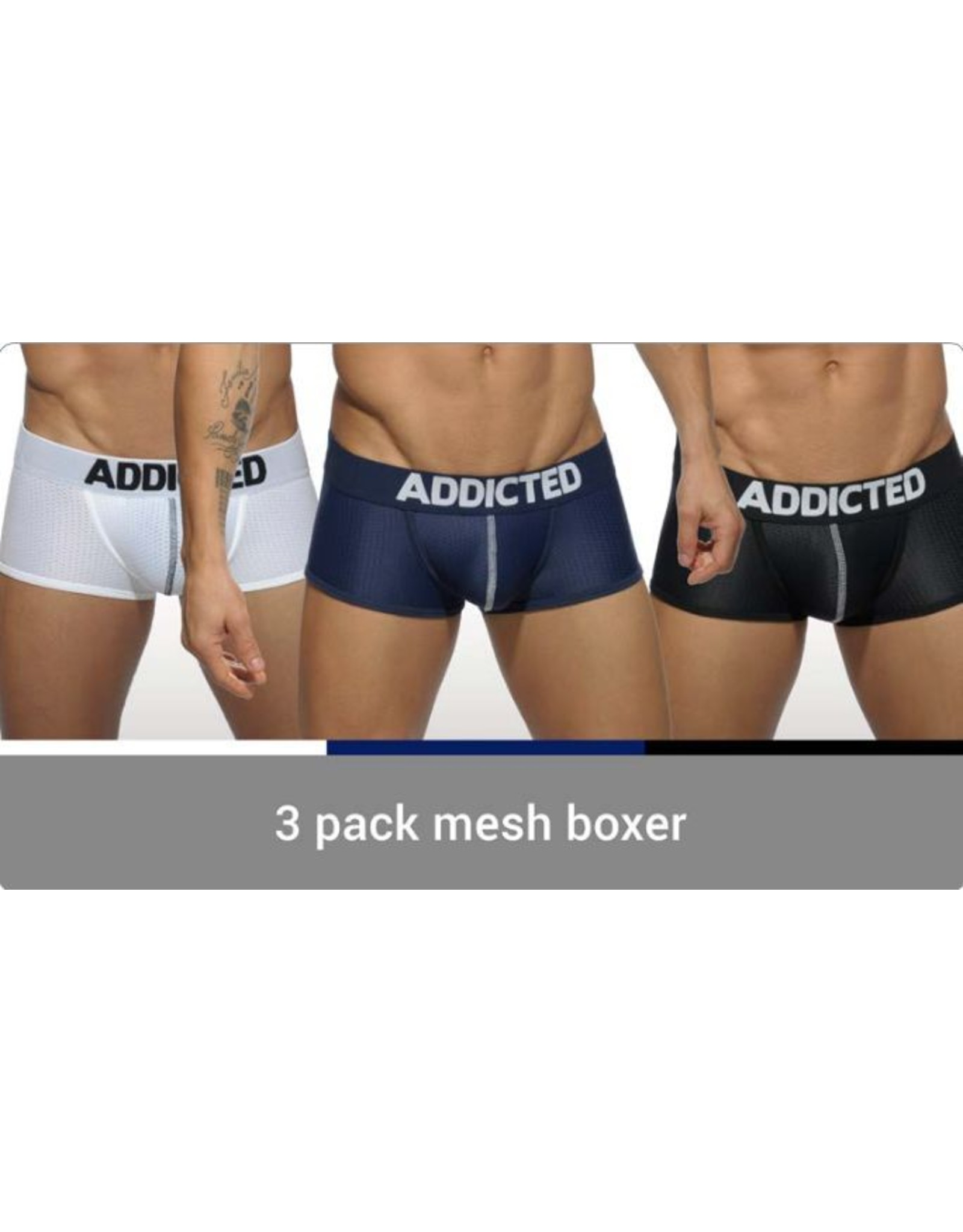 Addicted ADDICTED 3 Pack Mesh Boxer Push up
