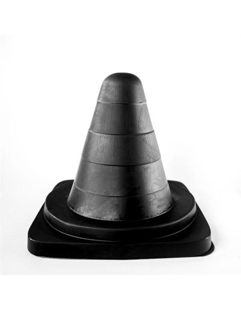 All Black Traffic Cone 19cm