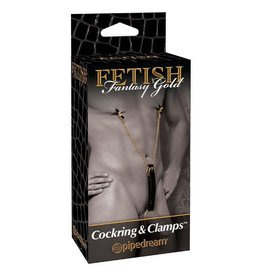 Fetish Fantasy Gold Cockring & Nippelklammern