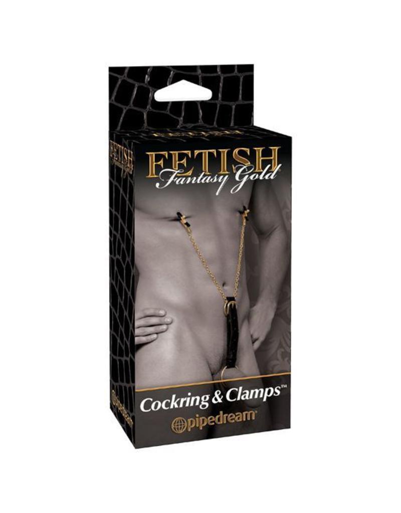 Fetish Fantasy Gold Cockring & Nippelklammern