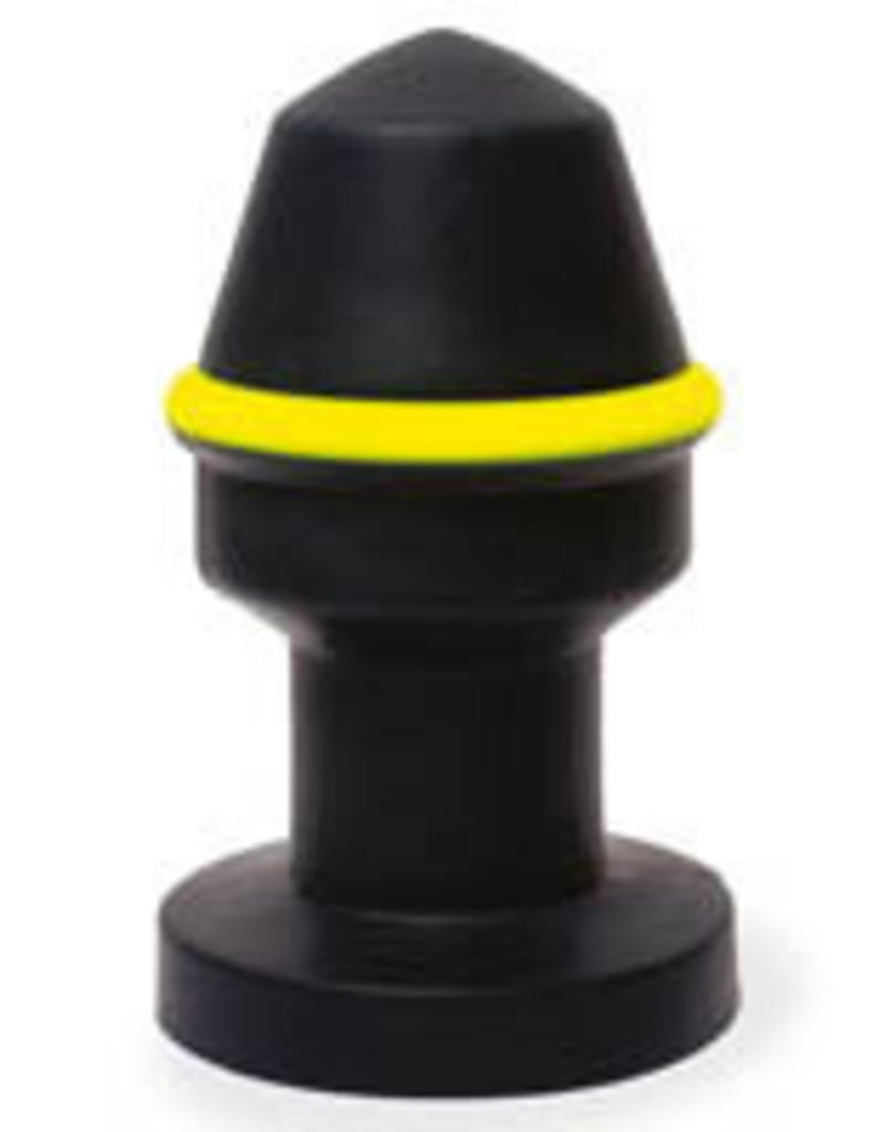 Keep Burning Fluo Pipe Plug Black/Yellow