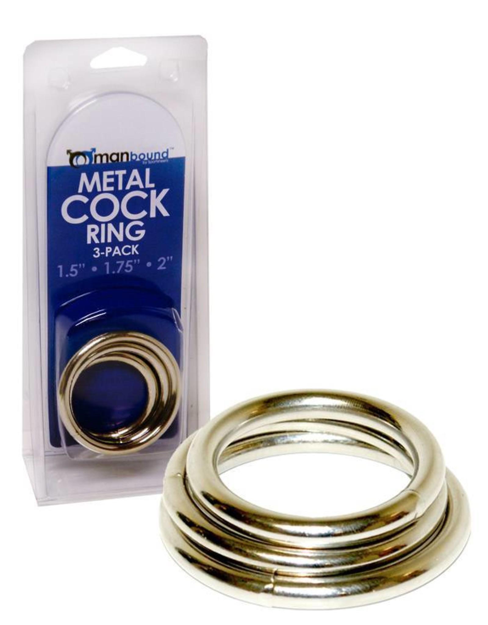 Manbound Metal Cock Ring 3er Set
