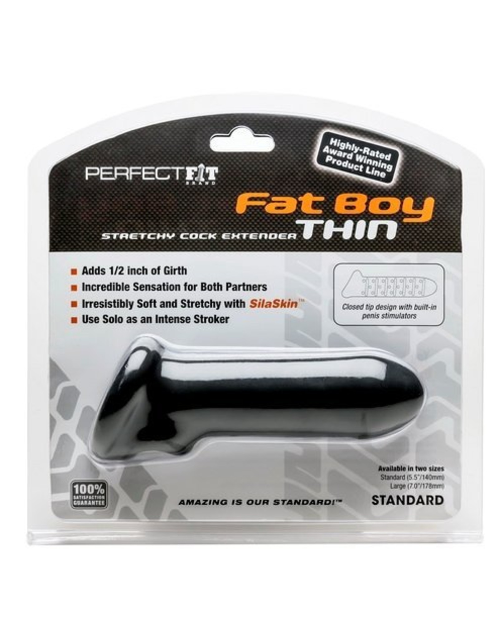 Perfect Fit Fat Boy Cocksleeve schwarz