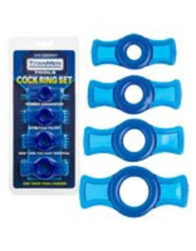Titanmen - Cock Ring Set Blue
