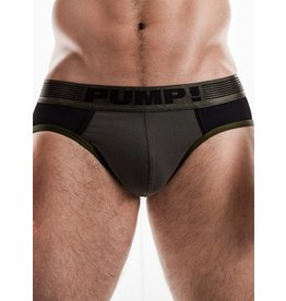 PUMP! PUMP! Ribbed Brief grün