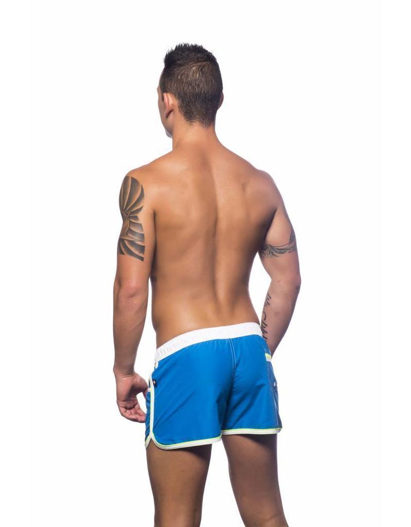 Andrew Christian Andrew Christian Crest Swim Shorts Electric Blue