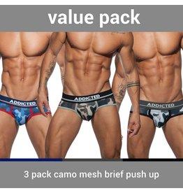 Addicted ADDICTED Three Pack Camo Brief