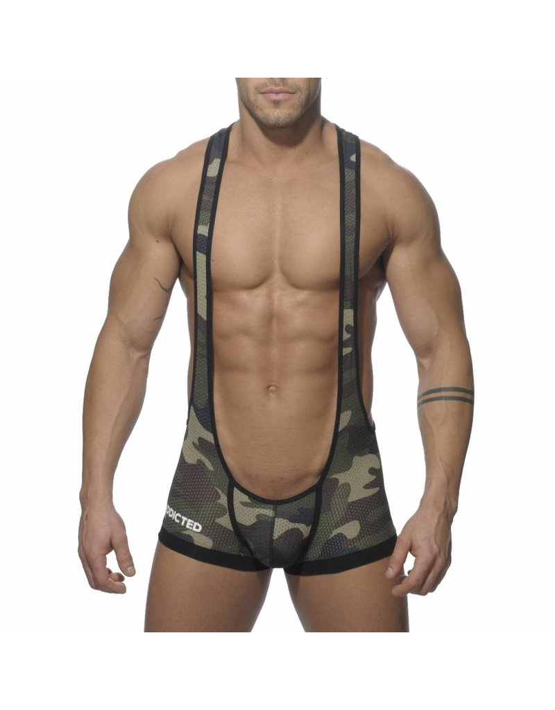 Addicted ADDICTED Bottomless Singlet Army