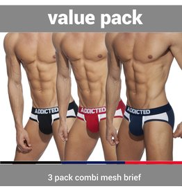 Addicted ADDICTED Three Pack Combo Mesh Brief