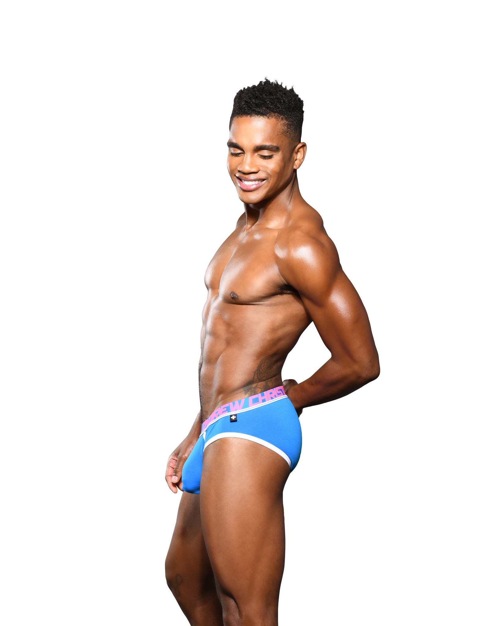 Andrew Christian Andrew Christian Blue Fly Tagless Brief Almost Naked