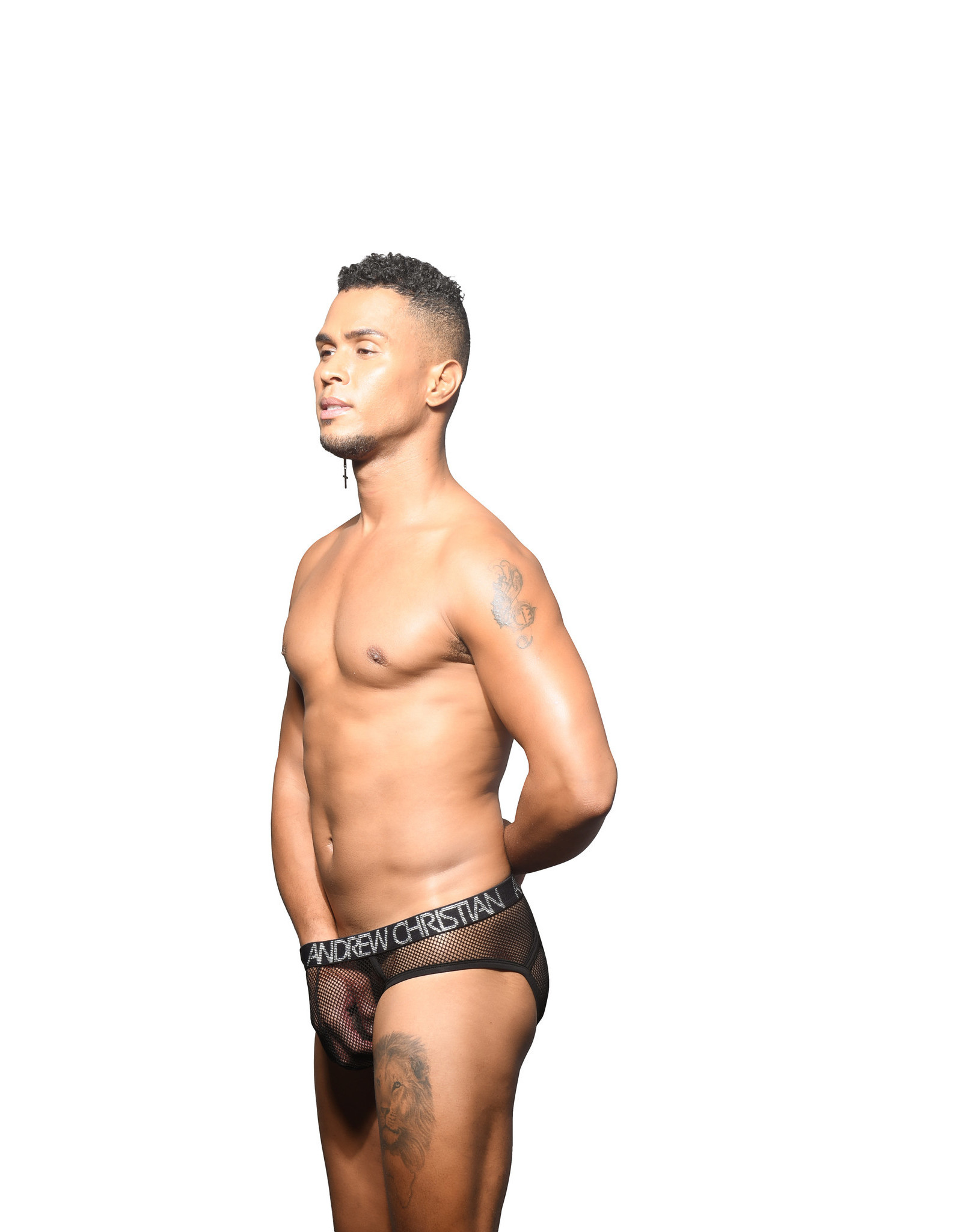 Andrew Christian Andrew Christian Fishnet Eclipse Brief Almost Naked