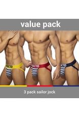 Addicted ADDICTED Three Pack Sailor Jockstrap