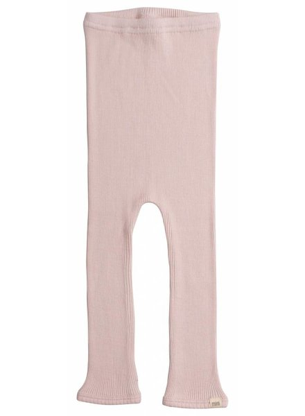 Minimalisma Bieber silk leggings - fine rib - 70% silk - sweet rose -  to 10y
