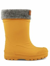 KAVAT GIMO - rubber boots with woollen insock - YELLOW -  size 22 to 35