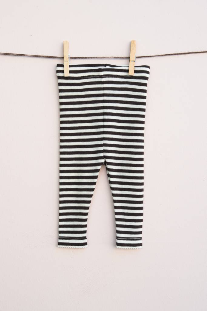 Lilli & Leopold baby leggings wool - 100% organic merino - stripes - 80 to 92
