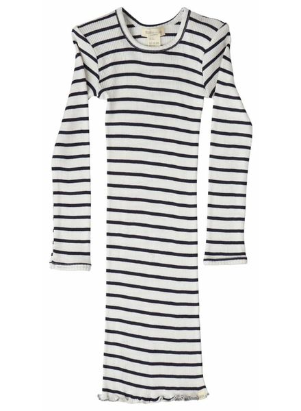 Minimalisma Bina dress silk - fine rib - 70% silk - sailor - 18m to 8y