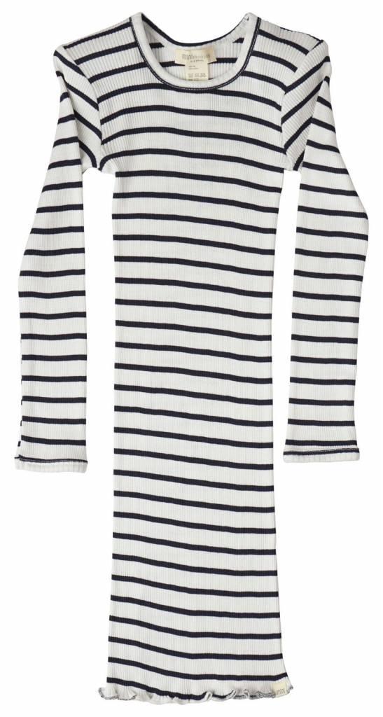 Minimalisma Bina dress silk - fine rib - 70% silk - sailor - 18m to 8y