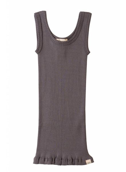 Minimalisma Billund zijden hemd - 70% zijde - donkergrijs - 2 tm 8 jaar