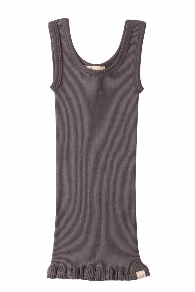 Minimalisma Billund silk tanktop - 70% silk - dark grey - 2 to 8 years