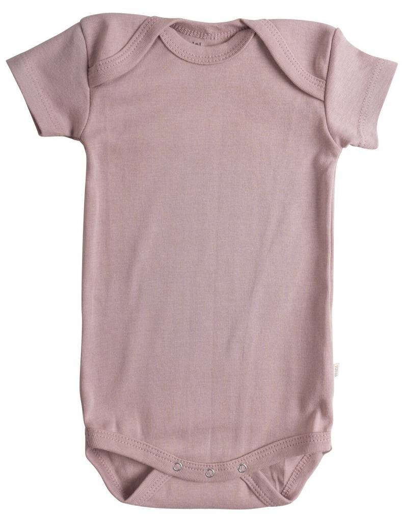 601fdaecc039 Minimalisma Nea romper - ribbed- 100% organic cotton - dusty rose - 12m tm  ...