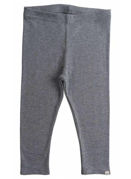Minimalisma Nice leggings - fine rib - 100% organic cotton - grey melange - 18m to 6 years