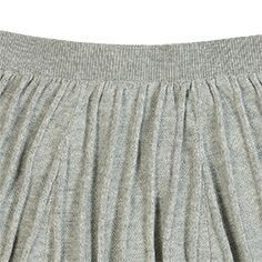 FUB knitted skirt with pleat pattern - 100% organic cotton - light grey - 90 to 130