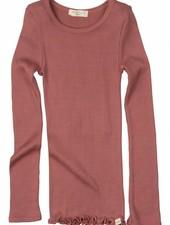 Minimalisma Bergen long sleeve shirt silk- fine rib - 70% silk/ 30% cotton - dark blue - 2 to 8y - Copy
