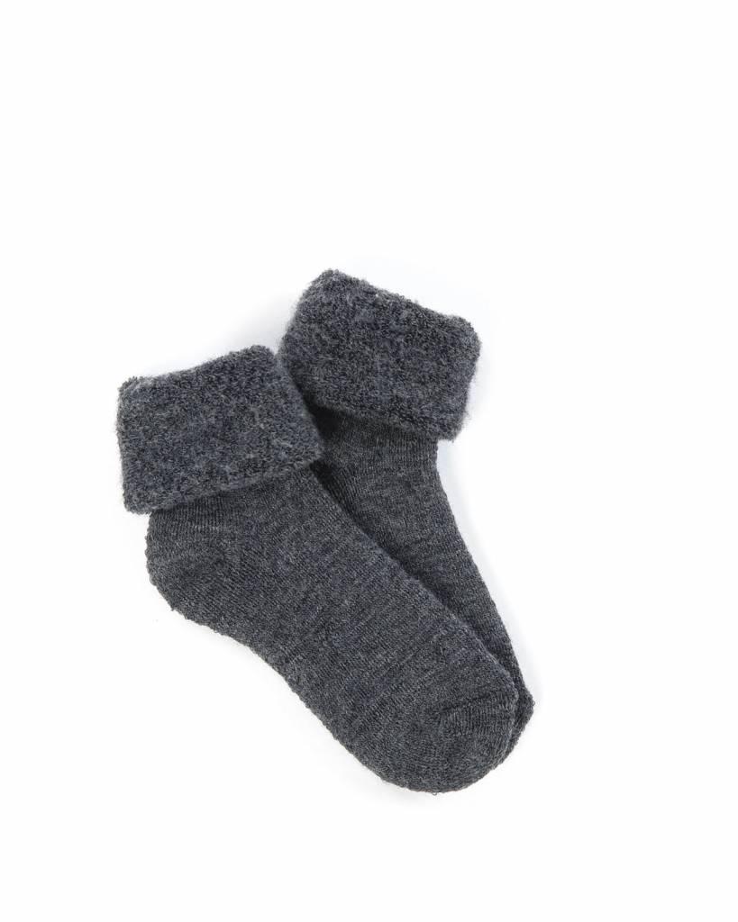 Smallstuff wollen sokjes - 100% merino wol - antraciet - maat 15 tm 24