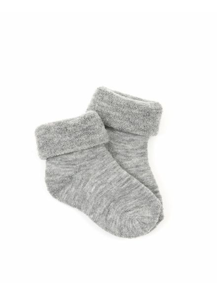 Smallstuff wool socks - merino wool - light grey - size 15 to 24