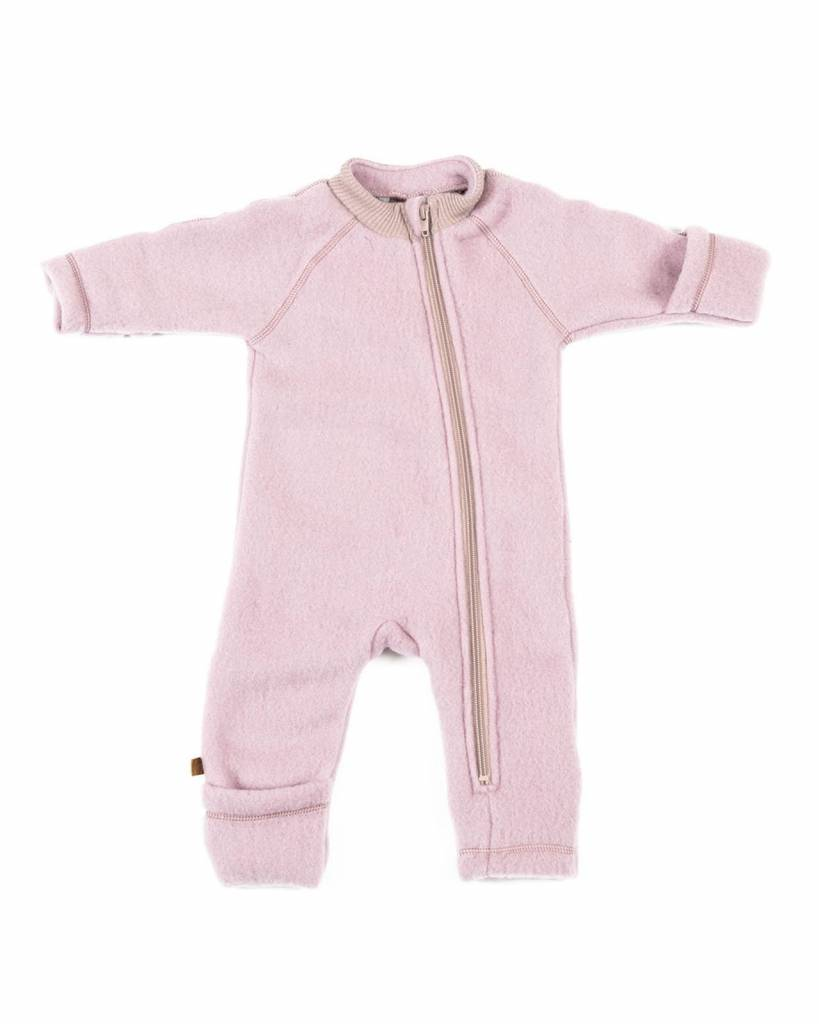 Babykleding Winter.Smallstuff Wollen Babypak Jumpsuit Winter Roze 100 Merino
