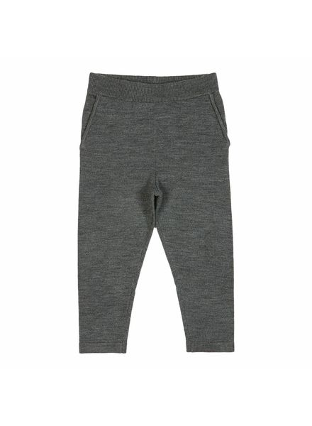 FUB wool sweatpants - knitted sweatpants 100% merino - anthracite - 90 to 130