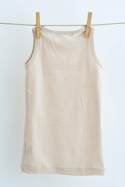 Lilli & Leopold tanktop wool - 100% organic merino - light beige - 2 to 6y