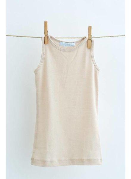 Lilli & Leopold hemd wol - 100% biologische merino - lichtbeige - 2 tm 6
