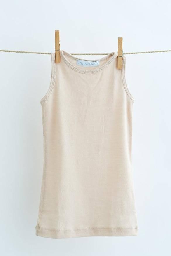 Lilli & Leopold hemd wol - 100% biologische merino - lichtbeige - 2 tm 6j
