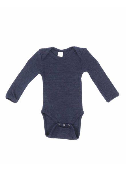 Smallstuff romper body wool - 100% merino - navy - size 56 to 98