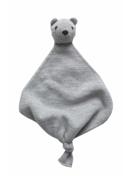HVID baby cuddle cloth Teddy Toki - 100% merino wool - grey melange