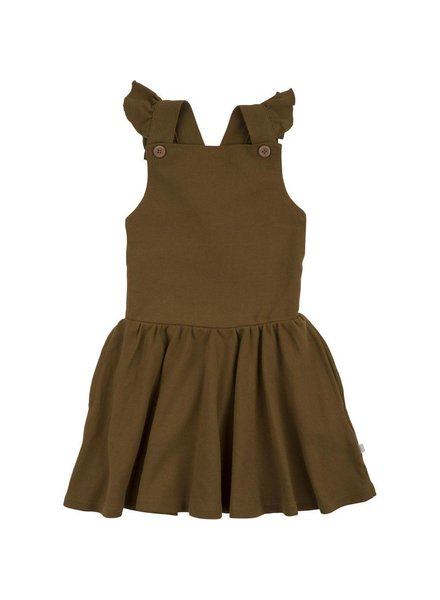 Minimalisma dungaree-style dress Juli - 100 organic cotton piquet - 2 to 10 years