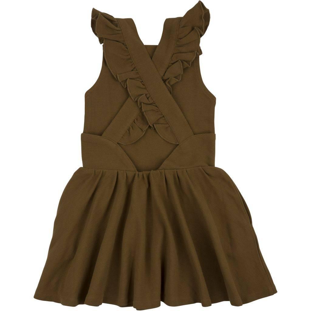 Minimalisma dungaree-style dress Juli - 100 organic cotton piquet - 2 to 10 years