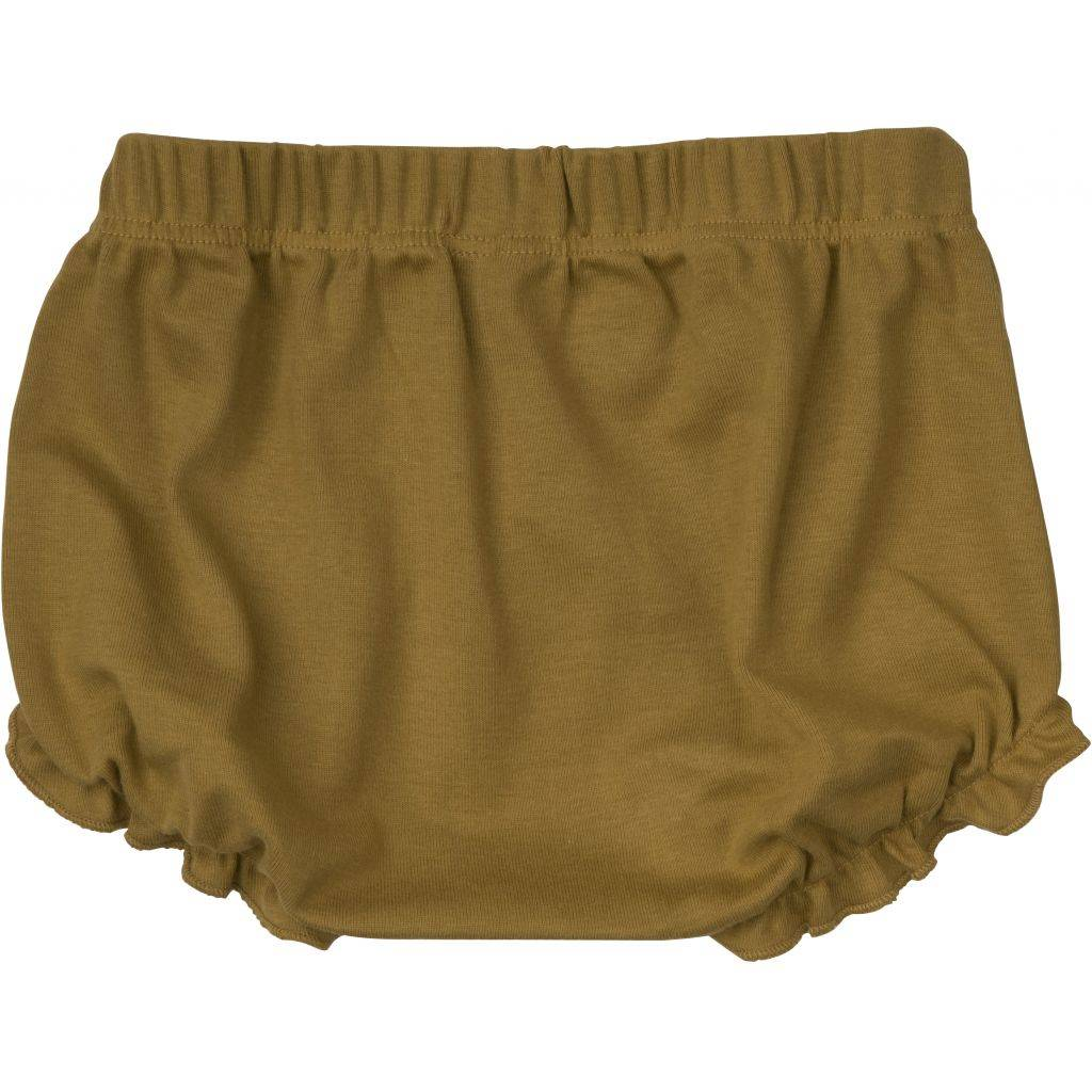 Minimalisma bloomer - 100% organic jersey cotton - ochre - 1m to 3 Y