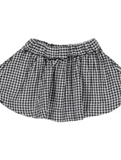 Poudre Organic skirt  - 100% organic cotton - black and white gingham - 3 to 8y