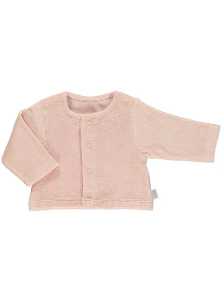 Poudre Organic vestje met drukknoopjes - badstof - 100% biologisch katoen - baby roze - 3m tm 6 jaar