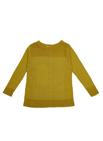 As We Grow finely knitted sweater - 15% alpaca / 85% cotton - antique moss - 18m to 8 years