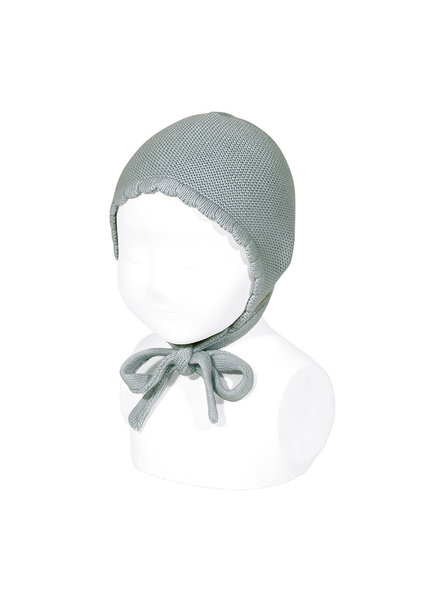 Condor knitted baby hat - 100% cotton - pale jade