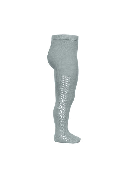 Condor cotton tights - side openwork - pale jade - 50 to 118 cm