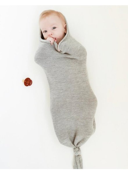 HVID baby Cocoon - 100% merino wool - light grey melange