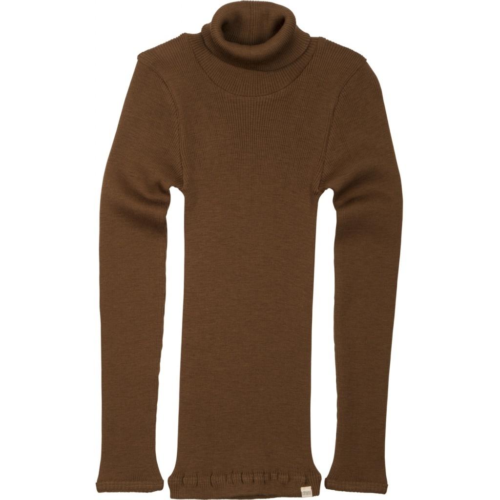Minimalisma turtleneck wool ALF - fine rib - 100% merino - cinnamon - 2y to 12y