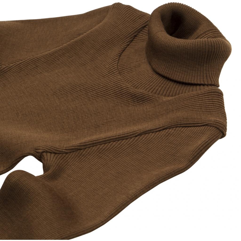 Minimalisma wollen coltrui wol ALF - fijne rib - 100% merino - cinnamon - 2 tm 12 jaar