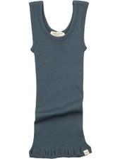 Minimalisma ARENDAL tanktop wool - fine rib - 100% merino - thunder blue - 2y to 12y