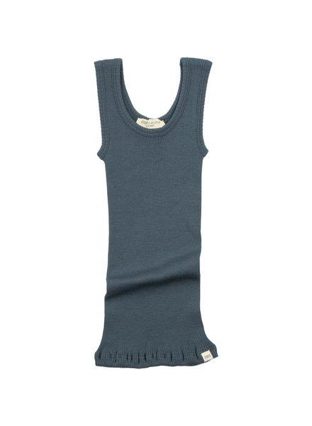Minimalisma wollen hemd ARENDAL - fijne rib - 100% merino - onweer blauw - 2 tm 12 jaar